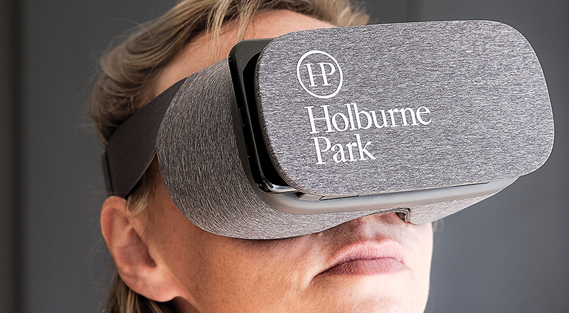 Not built yet? Not a problem... Lucid & Hello helped prospective buyers to take a quick and easy VR tour around the the streets of Holburne Park.