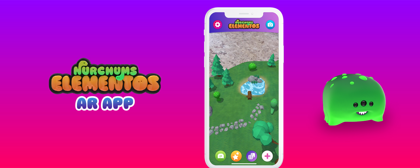 Nurchums Elementos – Collect, customise, and explore the new AR world of Nurchums… creating physical product demand through AR gamification.